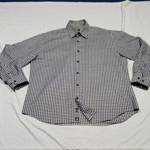 Robert Talbott Button-down L/S Shirt Mens Size Lrg